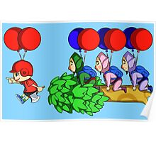 Balloon Fight: Villager Style Poster