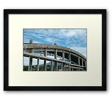 building under construction Framed Print