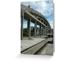 building under construction Greeting Card