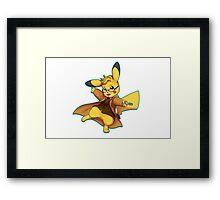 10th Doctor Pika Who? Framed Print