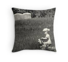 Headstone for a three year old girl Throw Pillow