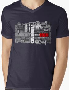 BDSM words cloud Mens V-Neck T-Shirt