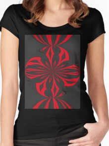 abstract t-shirt design Women's Fitted Scoop T-Shirt