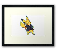 12th Doctor Pika Who? Framed Print