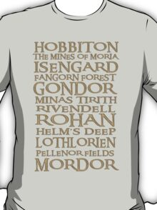 The Journey from Hobbiton to Mordor T-Shirt