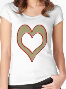 heart t-shirt design Women's Fitted Scoop T-Shirt