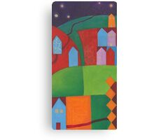 Clear Night in Small Town Canvas Print