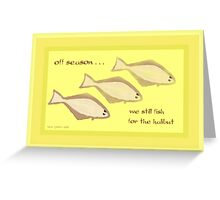 Halibut Greeting Card