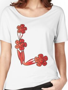 floral t-shirt design Women's Relaxed Fit T-Shirt