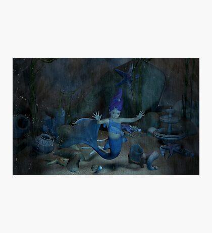 Captured Baby Mermaid  Photographic Print