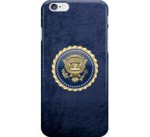Presidential Service Badge - PSB 3D on Blue Velvet iPhone Case/Skin