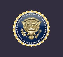 Presidential Service Badge - PSB 3D on Blue Velvet Unisex T-Shirt