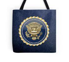 Presidential Service Badge - PSB 3D on Blue Velvet Tote Bag