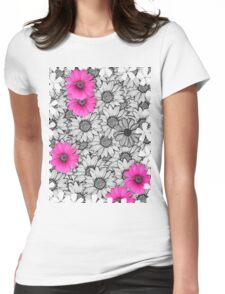 floral t-shirt design Womens Fitted T-Shirt