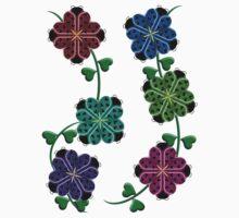 Ladybug Flowers One Piece - Long Sleeve