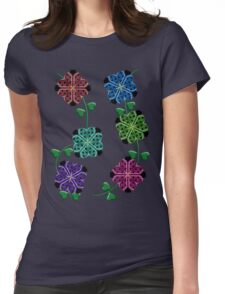 Ladybug Flowers Womens Fitted T-Shirt