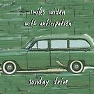 Sunday Drive Haiku Art Print by reflekshins
