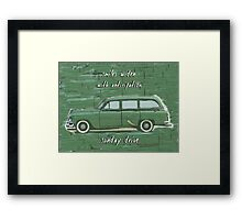 Sunday Drive Haiku Art Print Framed Print