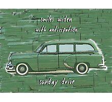 Sunday Drive Haiku Art Print Photographic Print