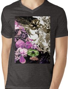 floral t-shirt design Mens V-Neck T-Shirt