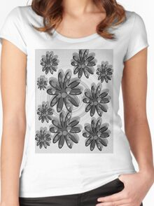floral t-shirt design Women's Fitted Scoop T-Shirt