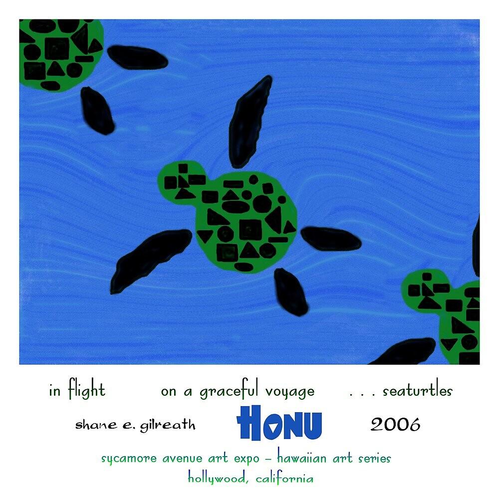 Honu Haiku Art Print by reflekshins