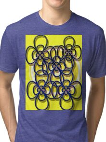 floral t-shirt design Tri-blend T-Shirt