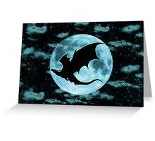 Moonlight Dragon-Smaug Greeting Card