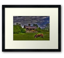 The Little Red Tractor Framed Print