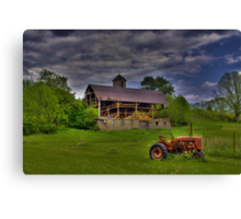 The Little Red Tractor Canvas Print