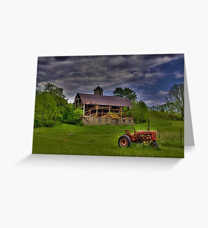 The Little Red Tractor Greeting Card