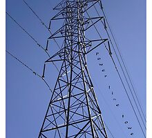 Power Line Tower by reflekshins
