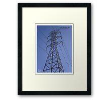 Power Line Tower Framed Print