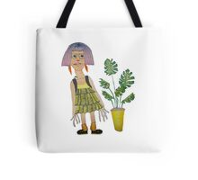 Art Student with a Cheese Plant Tote Bag