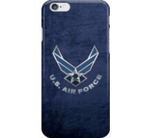 U.S. Air Force - USAF Logo 3D on Blue Velvet iPhone Case/Skin