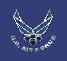 U.S. Air Force - USAF Logo 3D on Blue Velvet Unisex T-Shirt
