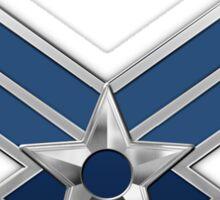 U.S. Air Force - USAF Logo 3D on Blue Velvet Sticker