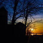 Sunset Todds Point Silhouetee by CTPhotography
