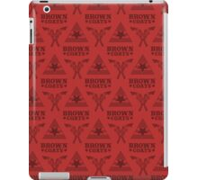 Browncoats forever, Firefly Pattern in Red iPad Case/Skin