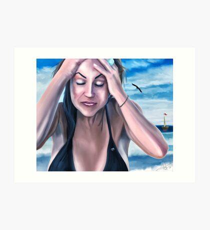 Summer Dream - A mystic beach scene  Art Print