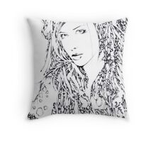 She3 - portrait of a girl Throw Pillow