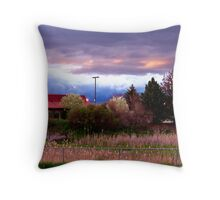 Kalispell Sunset - East Throw Pillow