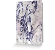 She 4 - Sketch of a girl Greeting Card