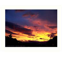 Kalispell Sunset - North Art Print