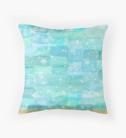 50 shades of Turquoise Throw Pillow