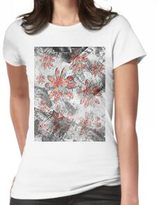 grunge t-shirt design Womens Fitted T-Shirt