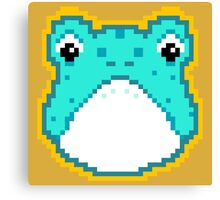 Pixel Frog - Blue Canvas Print