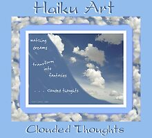 Clouded Thoughts Haiku Art Print by reflekshins