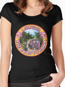 I survived the Road to Hana Women's Fitted Scoop T-Shirt