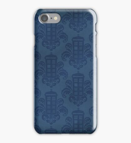 Tardis Damask Pattern iPhone Case/Skin